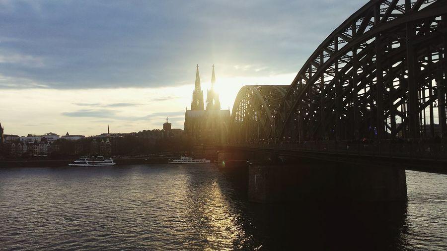 Bridge Sun Sky Twilight Sky Cologne , Köln,  Cologne Colognecathedral Colognecity Cologne Dom