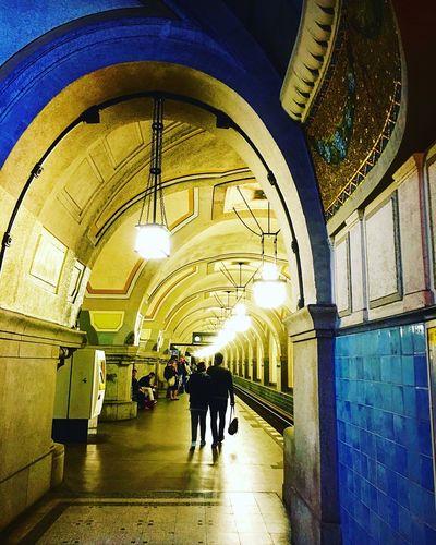 Berlin Starting A Trip U Bahn Underground Station  Traveling Blue