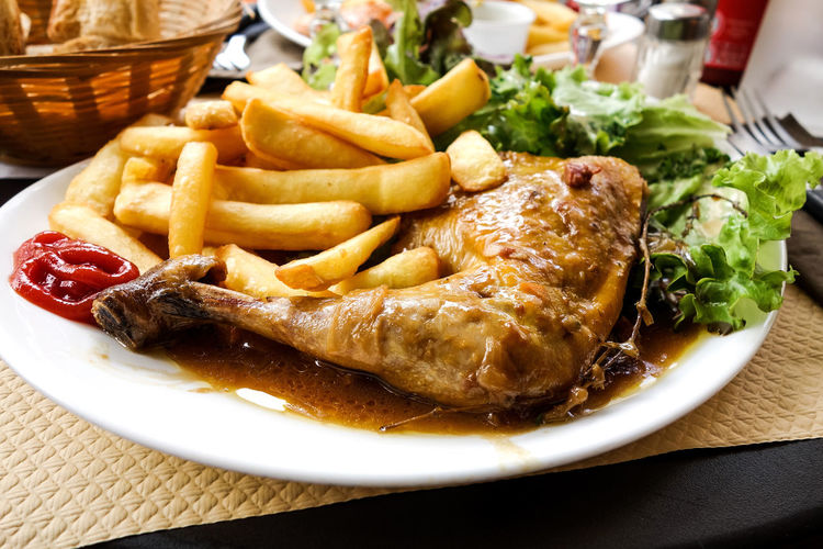 Juicy Chicken With French Fries