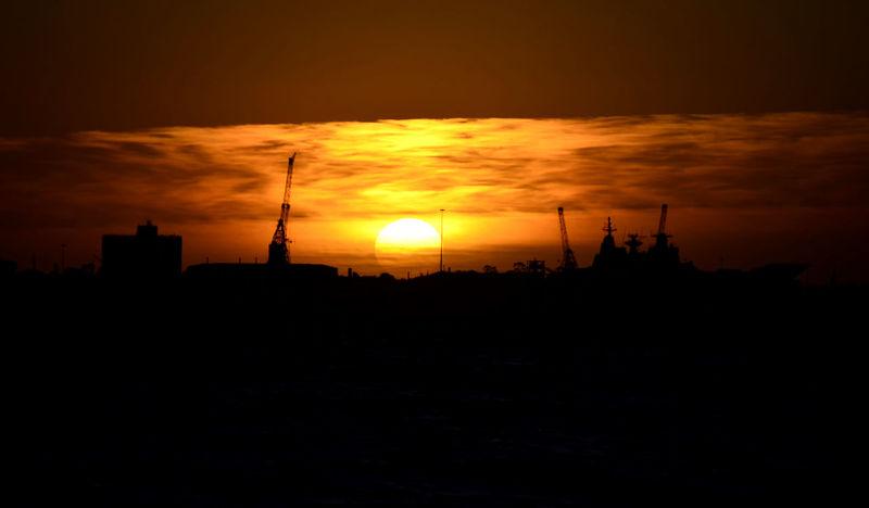 Sea Sunset Melbourne Saintkilda Darksunset Orange Sky Buildings & Sky Sunset Silhouettes Sunset #sun #clouds #skylovers #sky #nature #beautifulinnature #naturalbeauty #photography #landscape EyeEm Ready   EyeEmNewHere AI Now