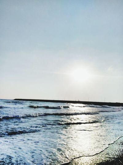Sea Sun Water Beauty In Nature Sunlight Outdoors Nature Horizon Over Water Scenics Reflection