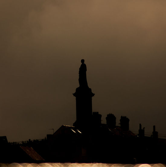 Dark Monuments North East Outdoors Silhouette Sky Statue Tranquility Tynemouth  Urban