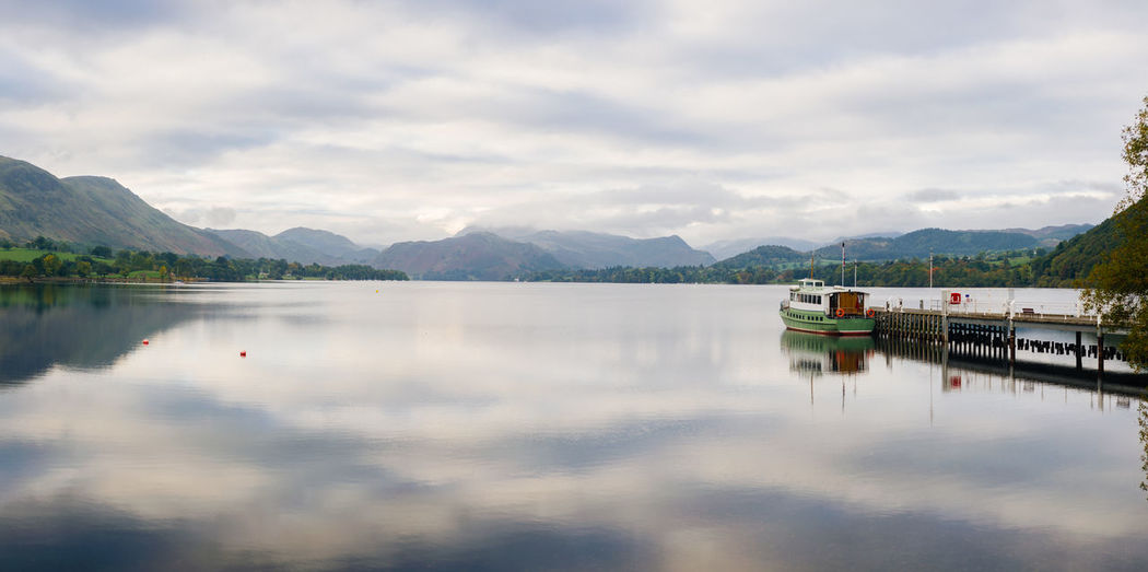 Lake District Ullswater Beauty In Nature Boat Cloud - Sky Day Jetty Lake Mode Of Transportation Mountain Mountain Range Nature Nautical Vessel No People Non-urban Scene Outdoors Reflection Scenics - Nature Sky Tranquil Scene Tranquility Transportation Water Waterfront