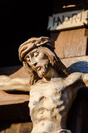 Statue Sculpture Outdoors Day Jesus Christ Iconic Religion Symbol Torso INRI Passion Religious