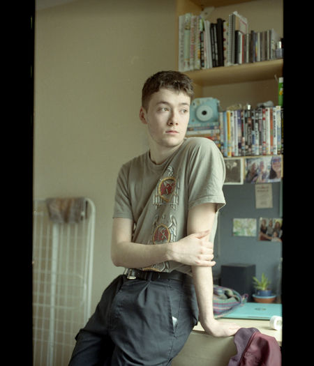 Sam - 2018 35mm 35mm Film Film Adolescence  Boys Casual Clothing Contemplation Film Photography Filmisnotdead Front View Home Interior Indoors  Lifestyles Looking Looking At Camera Men One Person Portrait Real People Sitting Standing Teenage Boys Teenager Three Quarter Length Waist Up Young Adult Young Men