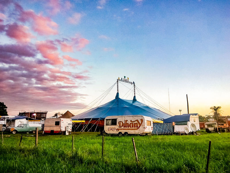 Circus in the field Latin America Vacations Tourism Sunset Argentina Posadas Pinkclouds Cloud Grass Awesome Field Amusement Park Arts Culture And Entertainment Sky Grass Cloud - Sky Circus Tent Camping Shelter