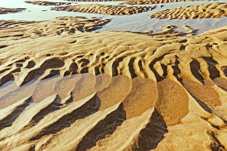 Sand patterns Life Is A Beach Pattern, Texture, Shape And Form Sand & Sea Seascape Waterscape Beach Photography Beauty In Nature No People The Essence Of Summer 43 Golden Moments