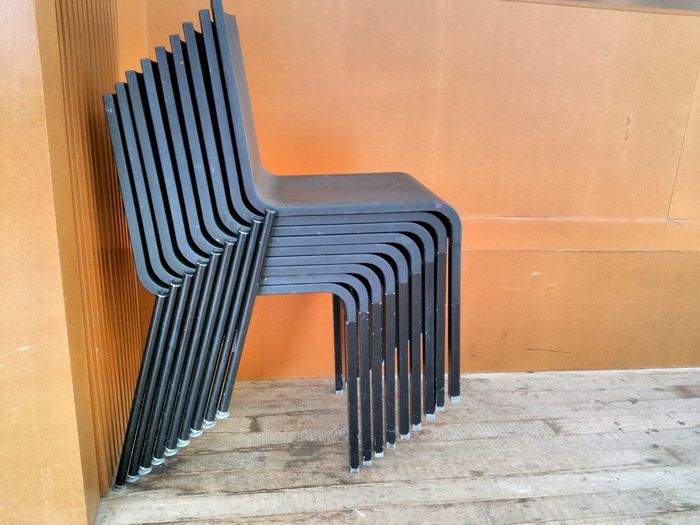 Stacked Chairs Chair Design Stacked Chairs Architecture Built Structure No People Pattern Curve Day Indoors  Modern Glucksman Cork City Ireland