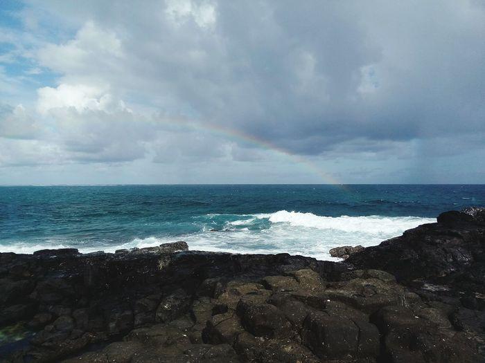 Mauritius Paradise Wave Crashing Rainbow🌈 Happy Sunday ☀