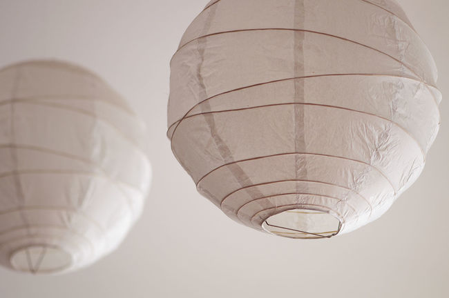 Lighting Equipment Close-up Day Hot Air Balloon Lantern Lighting Fixture Low Angle View No People Sky Lamp Pink round Paper Scandinavian Interior Lamps Fixture Rice