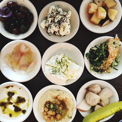 Foodphotography Mediterranean  Dips Smallplates Topdown