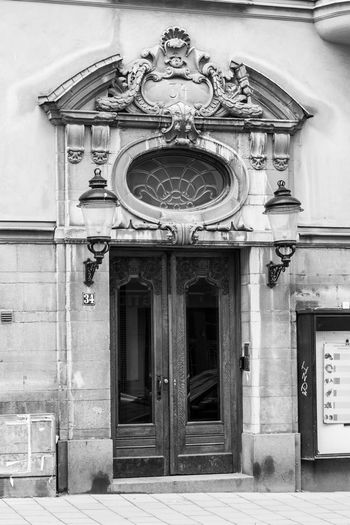 Entrance of building