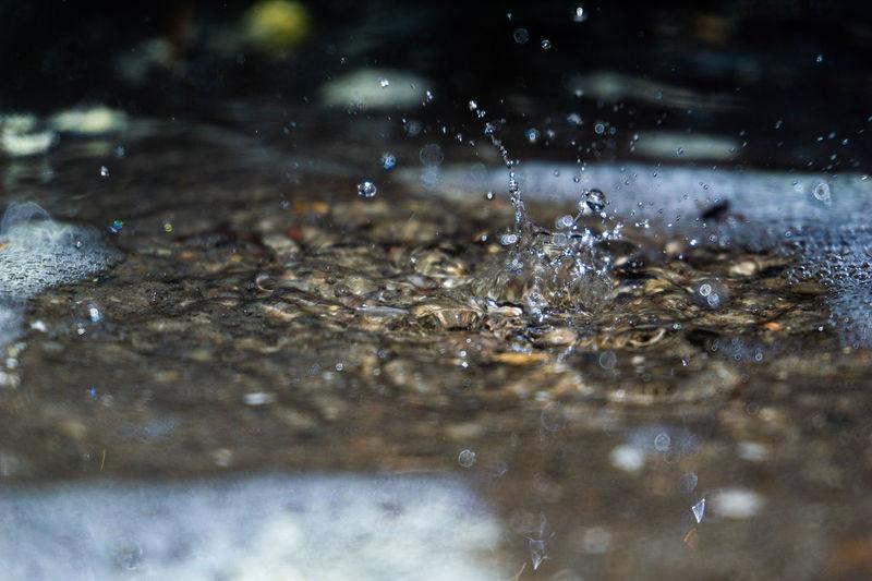 Full frame shot of wet splashing water