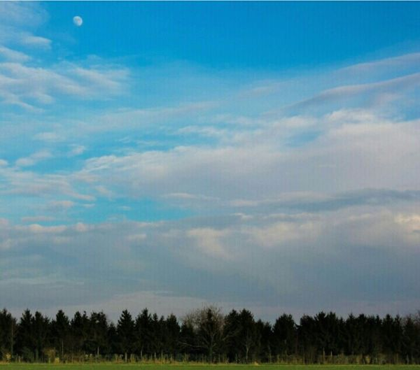 Piacenza Borgotrebbia Sky And Clouds Relaxing Enjoying Life Moon Light Threes Italy Walking Around