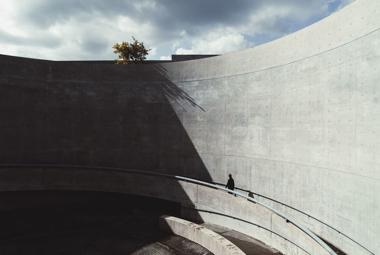 Architecture Japan Architecture OSAKA Tadao Ando The Architect - 2018 EyeEm Awards Architecture Building Building Exterior Built Structure Cloud - Sky Day Low Angle View Minimalism Nature Outdoors People Plant Real People Sky Staircase