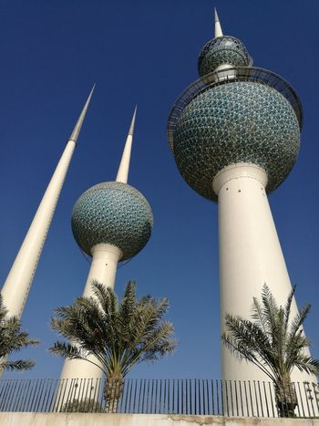 Kuwait Towers Tower Low Angle View Communication Clear Sky No People Close-up Cityscape Tourism Closeup Photography Cultures Outdoors Sky Travel Travel Destinations Architecture Dome