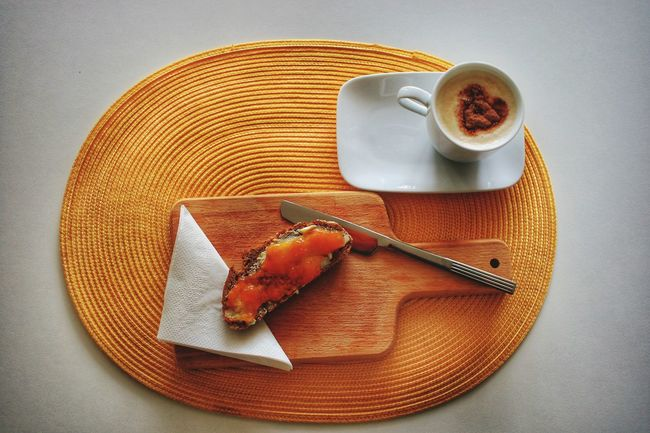 Frühstück Breafast Bread Coffee Yellow Jam Cup Of Coffee Morning Plate No People Indoors  Day