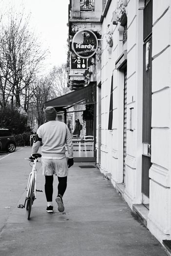 My Winter Favorites Biking in Winter . Tired! Biker Streetphotography Streetphoto_bw Citylife Urban Lifestyle Blackandwhite Black And White