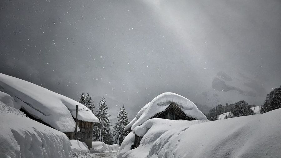 Blackandwhite Smallvillage Outside Photography Outdoor Photography Nature Photography Snow Winter Cold Temperature Scenics - Nature Beauty In Nature Sky Plant Tree Nature Tranquil Scene Landscape White Color Snowing Environment