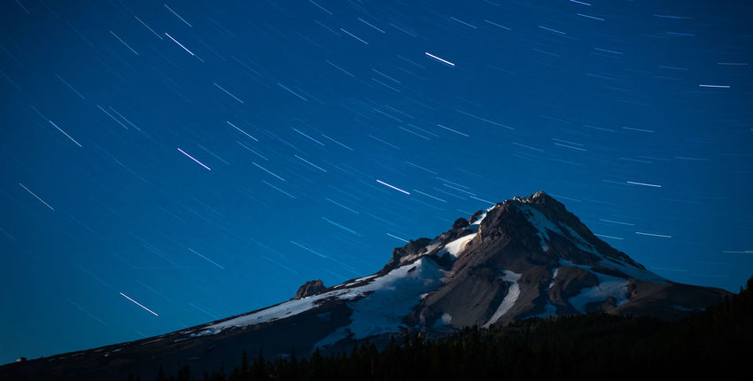 Mt. Hood Orbit Astronomy Beauty In Nature Galaxy Illuminated Landscape Long Exposure Mountain Mountain Peak Mountain Range Nature Night No People Outdoors Sky Snow Space Star - Space Star Trail Winter EyeEmNewHere
