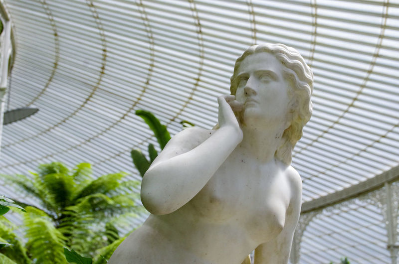 Low Angle View Of Female Statue