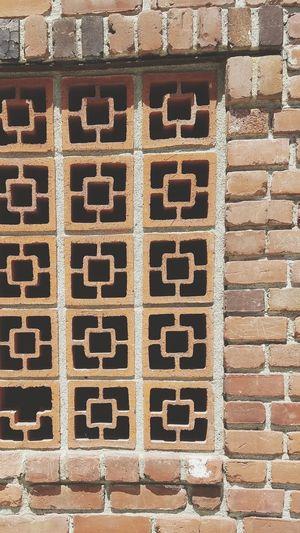 Brick Brick On Brick Design Pattern Outdoors Pink Copyspace Backgrounds Manmade CAST Kiln Close-up Row