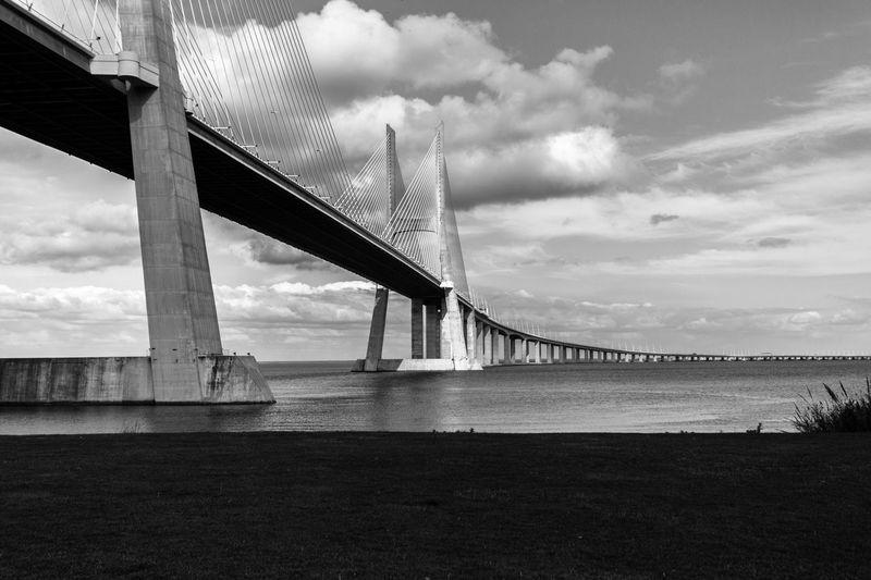 Ponte Vasco Da Gama Portugal Bridge Blackandwhite Black And White Black & White Lisbon Lisbonlovers