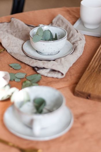 Table Setting Tea Time Tea Food And Drink Food Table Indoors  Still Life Freshness Cup Drink No People Mug Refreshment