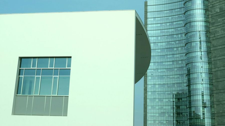 Low angle view of modern building