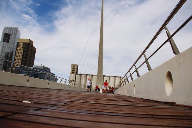 Puente de la Mujer. Sky Architecture Built Structure Building Exterior Real People City Outdoors Modern Skyscraper Cloud - Sky Men Day Bridge Puerto Madero, Buenos Aires Argentina Puente De La Mujer