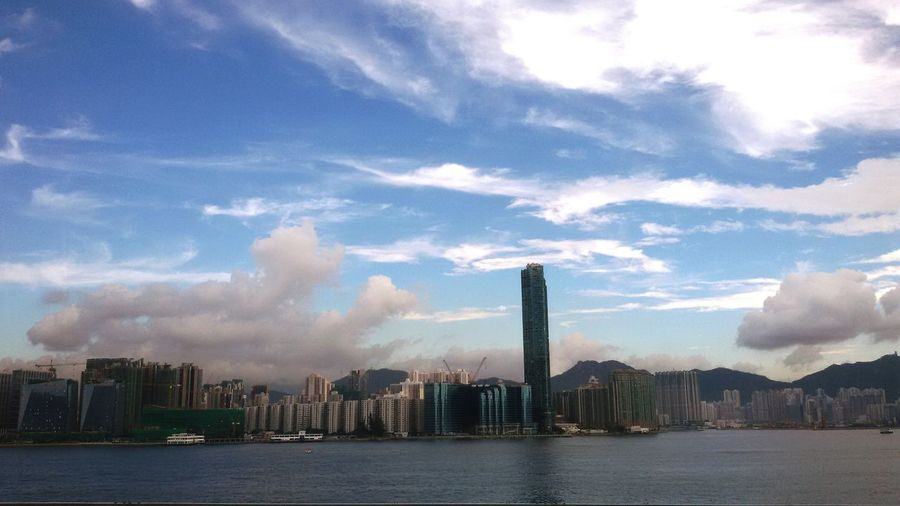 HongKong Cosmopolitan Cityscapes Victoria Harbour Skyscrapers Hong Kong
