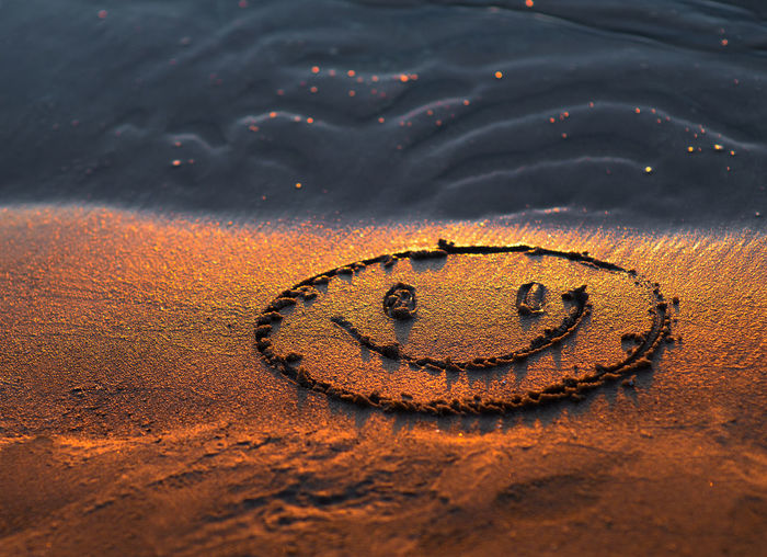 Sign Beach Brown Close-up Day Drawing Emotion Golden Color Heart Shape High Angle View Land Love Minimalism Nature No People Outdoors Positive Emotion Sand Shape Smile Smiling Smiling Face Summer Water Wet This Is My Skin