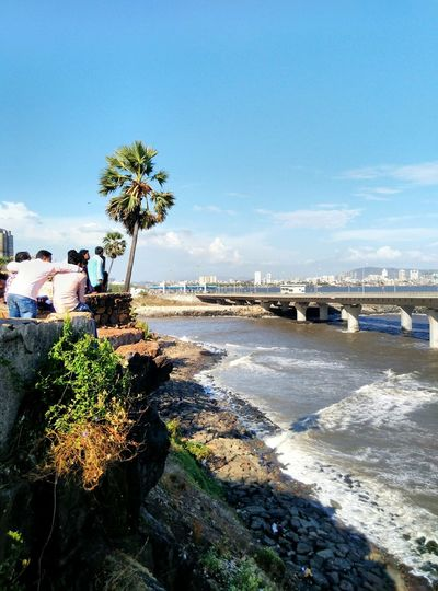 Pic captured from the fort of Bandstand in Mumbai Unmeshshirsath Usphotography Mumbai Architecture Structures Seaside Bridge Tree People