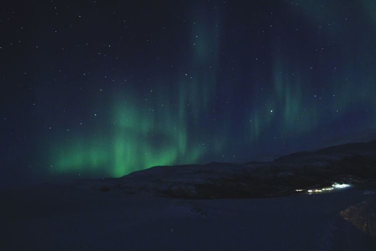 Aurora Aurora Polaris Beauty In Nature Arctic Circle Arctic Light Lights Norway🇳🇴 Snow ❄ Tromsø Mountain Illuminated Winter Aurora Polaris Polar Climate Arctic