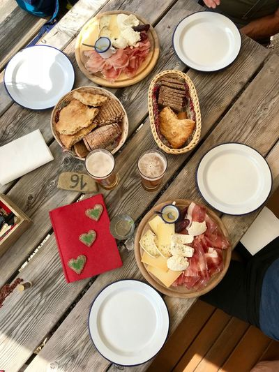 Cheese Ham Bread Dolomites, Italy Food And Drink Table Freshness Food Drink Plate High Angle View Refreshment Ready-to-eat Cup Still Life Mug