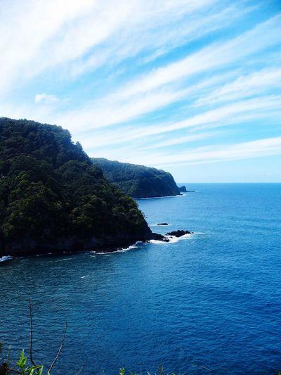 Blue Wave Maui Maui Hawaii Mauiphotography Sea Sea And Sky Seascape Sea View Clouds And Sky Blue Sky Blue Sea