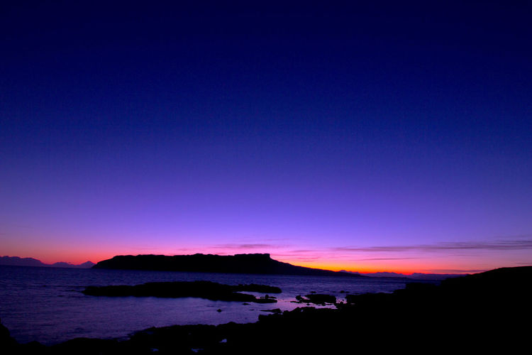 Sunrise over Eigg Scenics Nature Beauty In Nature Landscape No People Outdoors Water Blue Tranquil Scene Eigg Eigg And Muck Shillouette