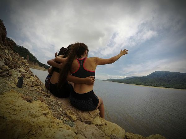 Women Around The World Travel Vacations Togetherness Happiness Only Women Adventure Day Water Sky People Friends Hug Sisters