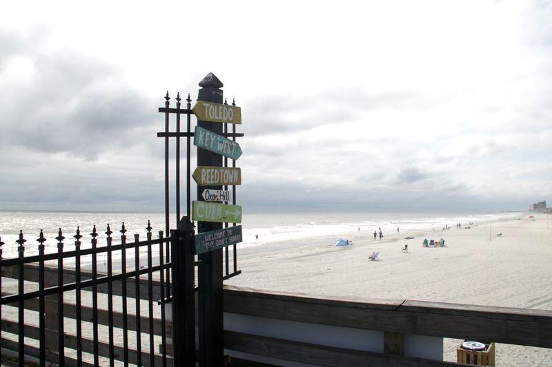 Ocean View South Carolina Surfside Beach USA USAtrip America Direction Horizon Land Ocean Outdoors Sea Sky Water