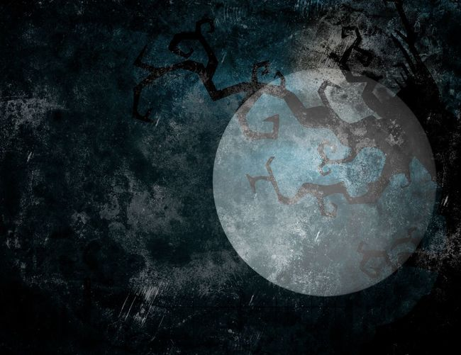 Halloween Moon Art Art And Craft Auto Post Production Filter Backgrounds Broken Circle Close-up Creativity Destruction Detail Deterioration Directly Above Dirty Full Frame Ground High Angle View Mystery Pattern Textured  Wet