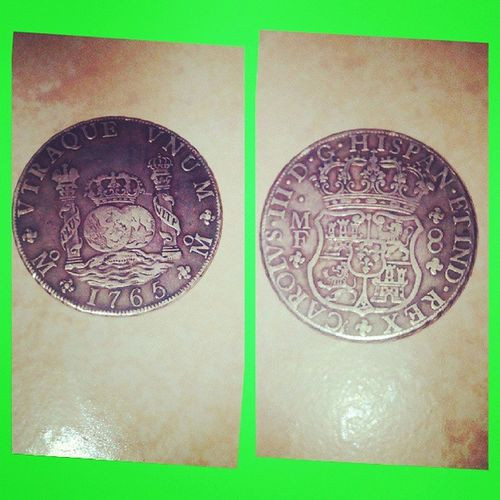 The old coins ....since 1765 History Oldcoins Carolvs Rex hispan 1765