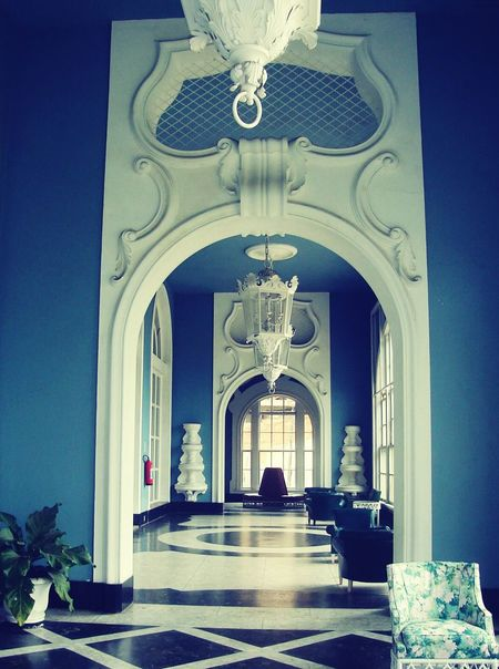 Arch Ornate Architecture Indoors  No People History Architectural Column Luxury Royalty Day Blue Color Palacio Quitandinha Petrópolis