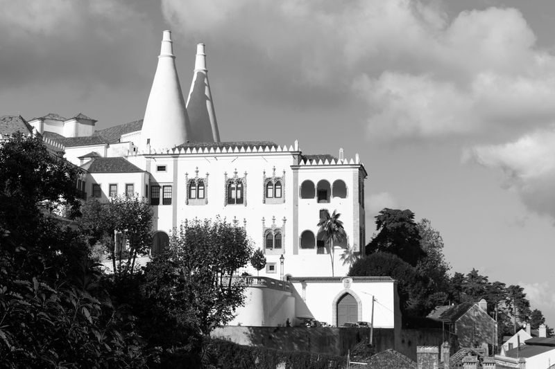 Historical Monuments Architecture Old Building  Sky And Clouds Details Black & White Black And White Black And White Photography Blackandwhite Blackandwhite Photography Bnw Eye4photography  EyeEm EyeEm Best Shots EyeEm Bnw EyeEmBestPics Monochrome Old Building  Palace From My Point Of View EyeEm Gallery Taking Photos at Palacio Nacional De Sintra Portugal