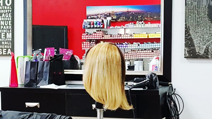 Let Your Hair Down Hair Two Tone Black Blond Mirror Reflections The View From My Chair Headless Hair Check This Out Captured The Moment Cant Decide Style And Fashion Fashion Photography Beauty In Hairdressing  Open Edit The Week On EyeEm