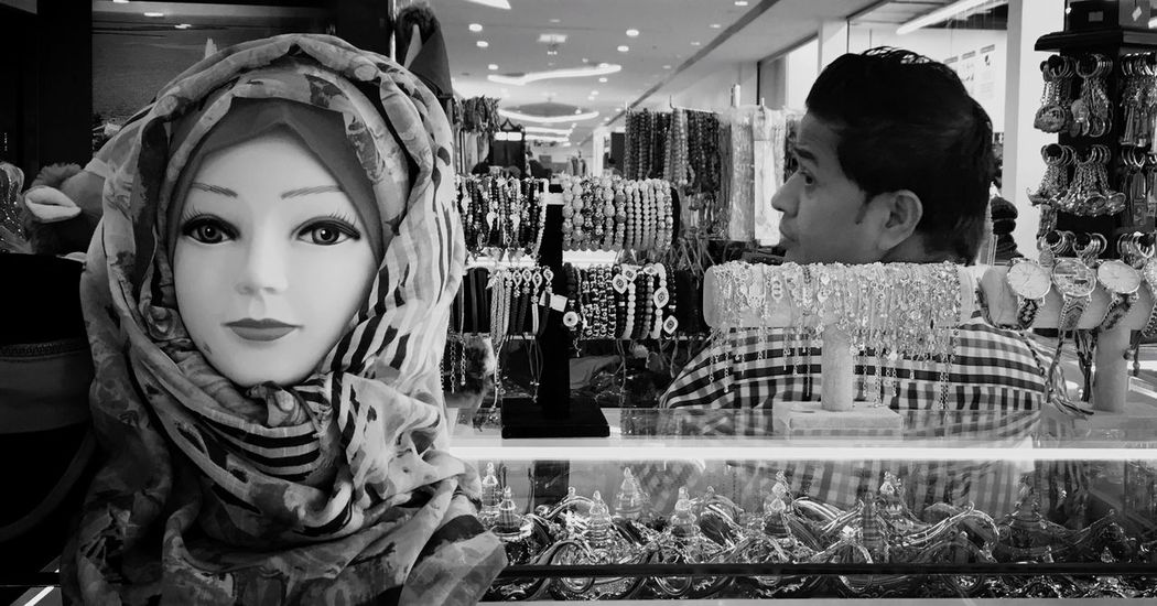 Store Indoors  Retail  Real People Day One Person Close-up People HEAD EyeEm Gallery Men Scalf Shop Iphonephotography