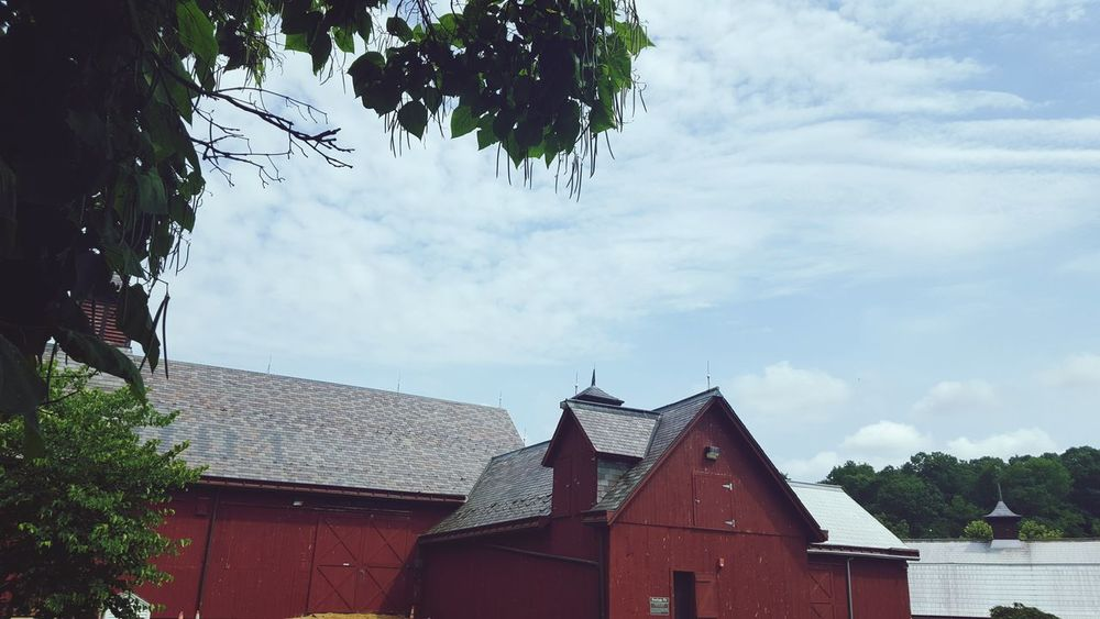 Cloud - Sky Tree Sky Outdoors Architecture Day Building Exterior No People Nature Farmers Market Farm Muscoot Farm New York