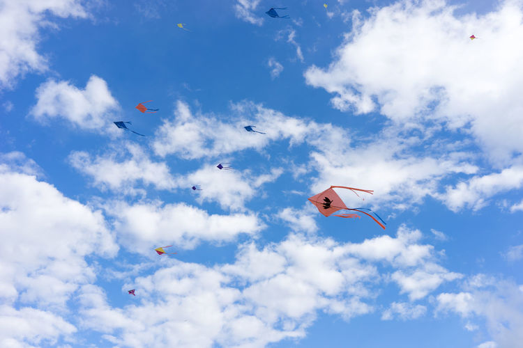 Colors Kite Cloud - Sky Day Flying Kite Competition Kite Flying No People Outdoors Sky