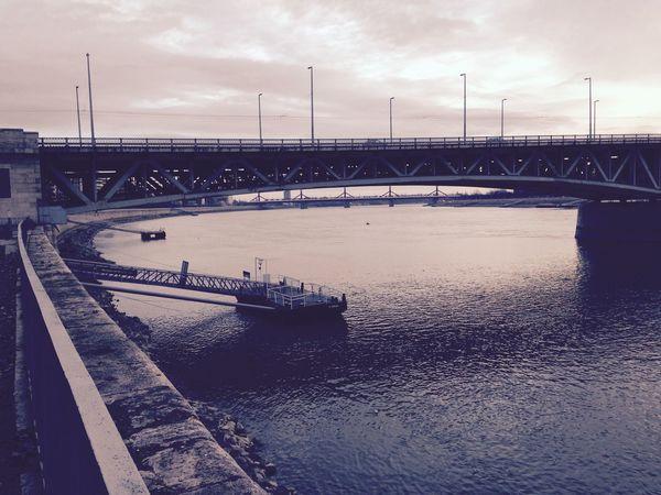 Budapest, Hungary Petőfi Híd Danube Water Reflections Bridges