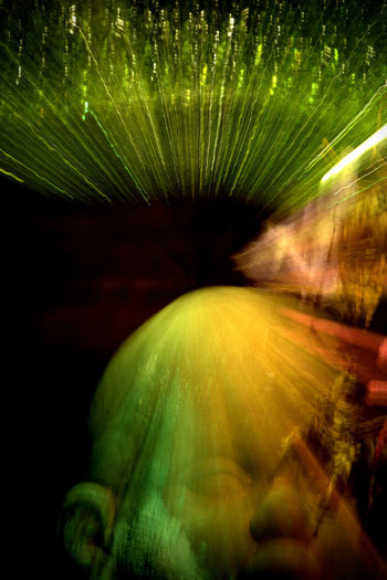 Artistic Eye capturing motion Close-up Conceptual Art Green Color Lights On Movement Reflexes New Vision No People