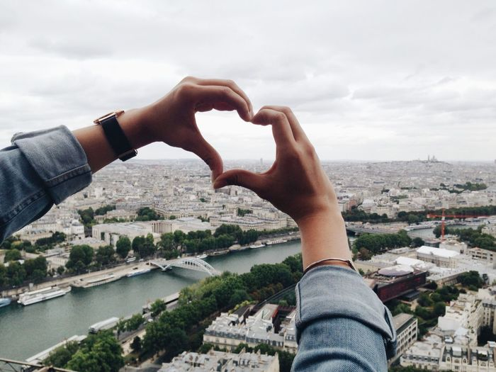Paris from above heart